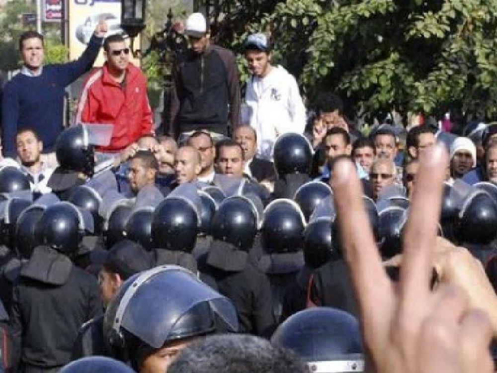 Διαδήλωση έξω από την αιγυπτιακή πρεσβεία