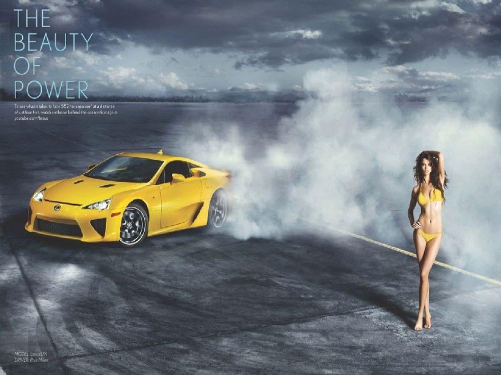 Η Ριάν ΤενΧάκεν και το Lexus LFA