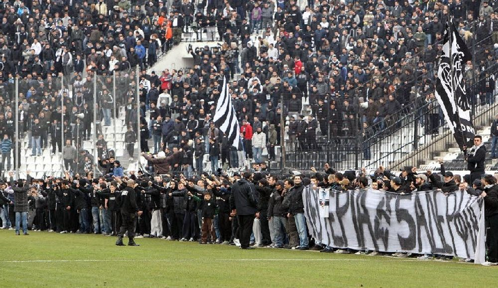 Διαμαρτυρία των οπαδών του ΠΑΟΚ