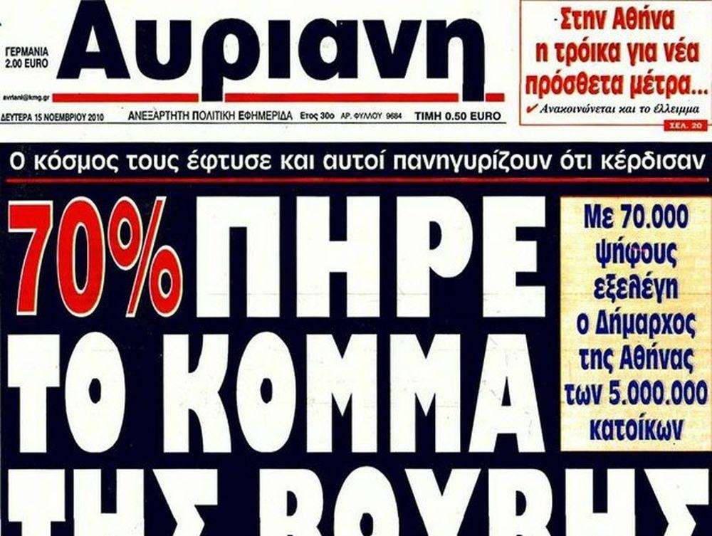 48ωρη απεργία σε «Αυριανή»