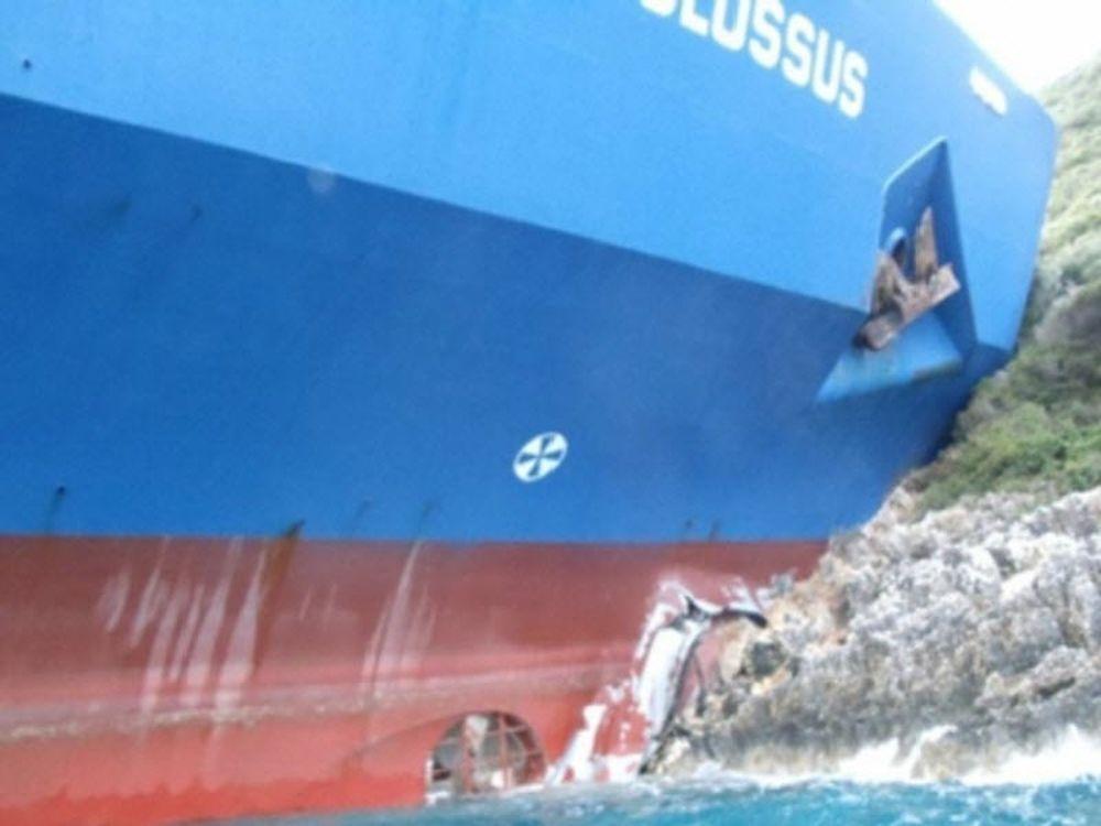Προσάραξη ελληνικού πλοίου