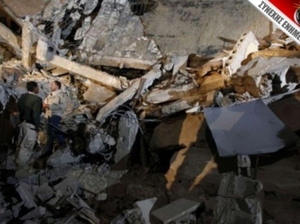 Χτύπησαν το σπίτι του Καντάφι
