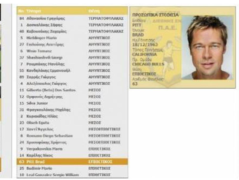 Ο Brad Pitt στον Εργοτέλη!