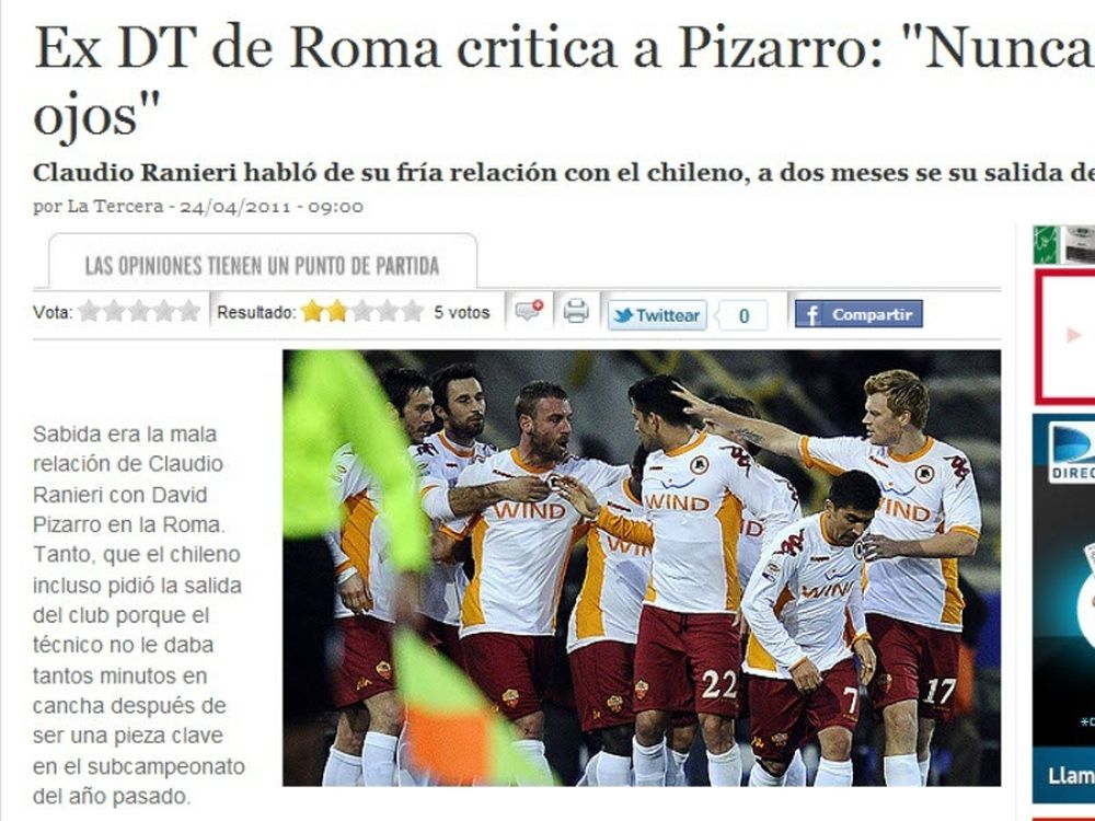 Ιταλικές αναφορές για Πιζάρο