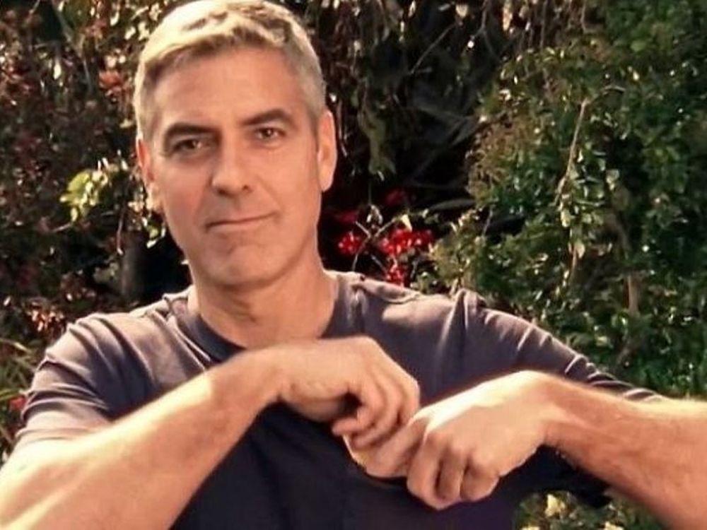 Ο Clooney σε διαφήμιση
