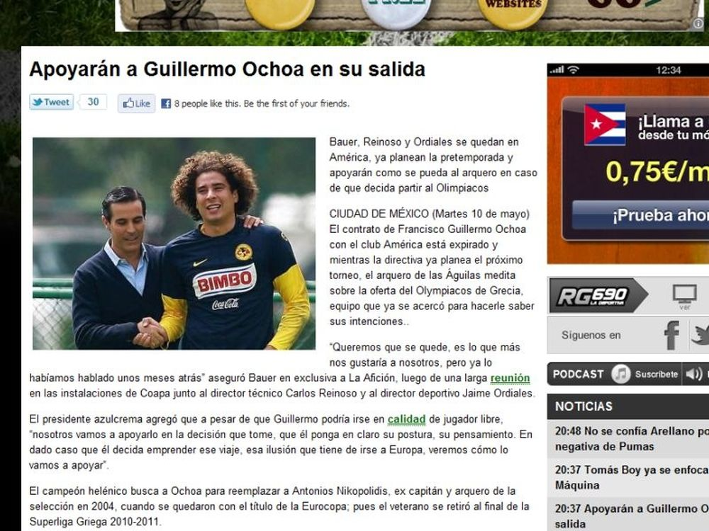 Μεξικάνικες αναφορές για Οτσόα