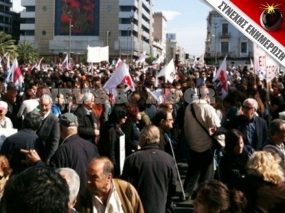 Ογκώδης η πορεία στην Αθήνα