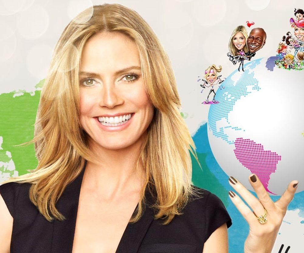 To νέο site της Heidi Klum