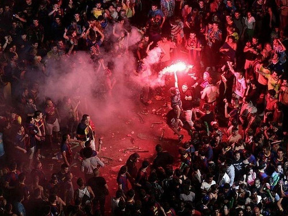 «Κάηκε» η Βαρκελώνη (video)