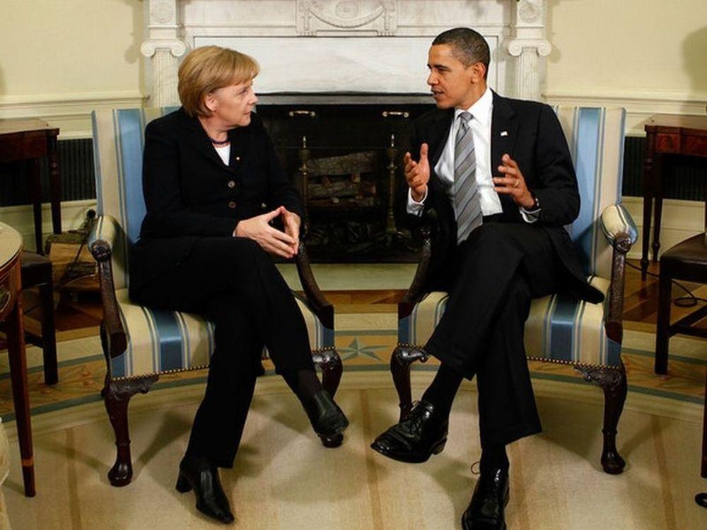 Την Τρίτη τα λένε Μέρκελ, Ομπάμα