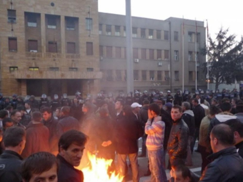 Αστυνομική βία στα Σκόπια