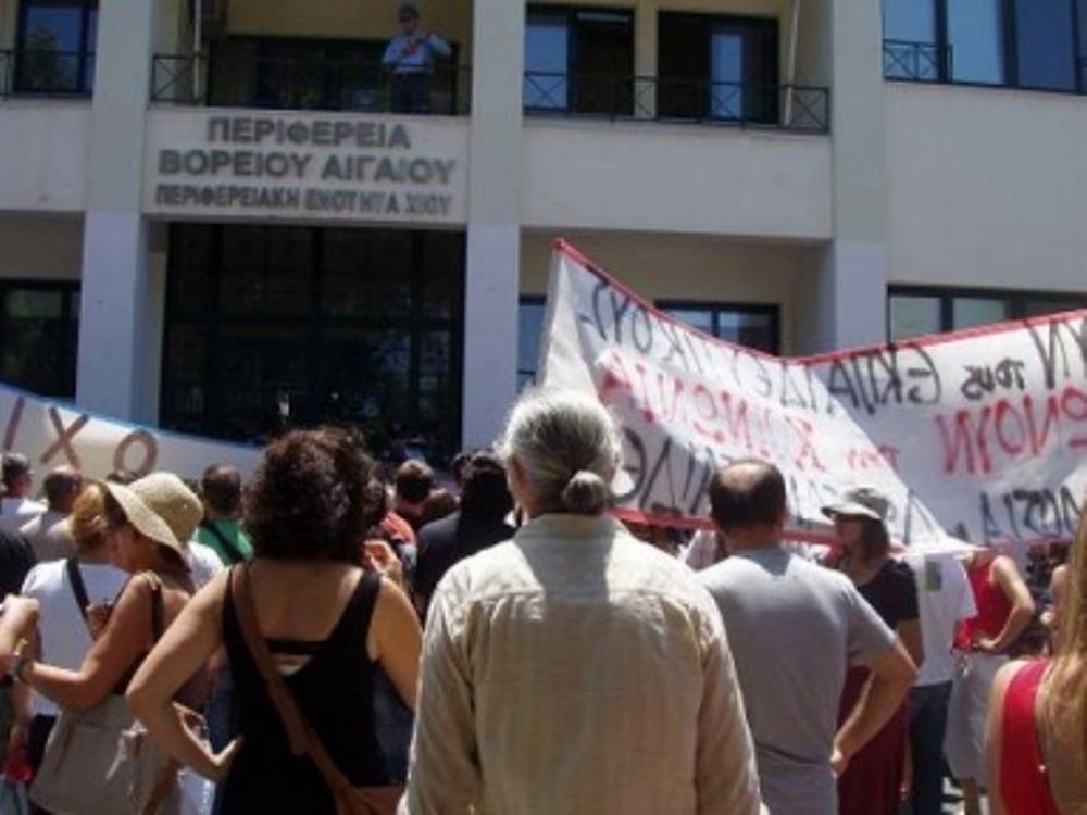 Εγκλώβισαν τον Σκανδαλίδη στη Χίο