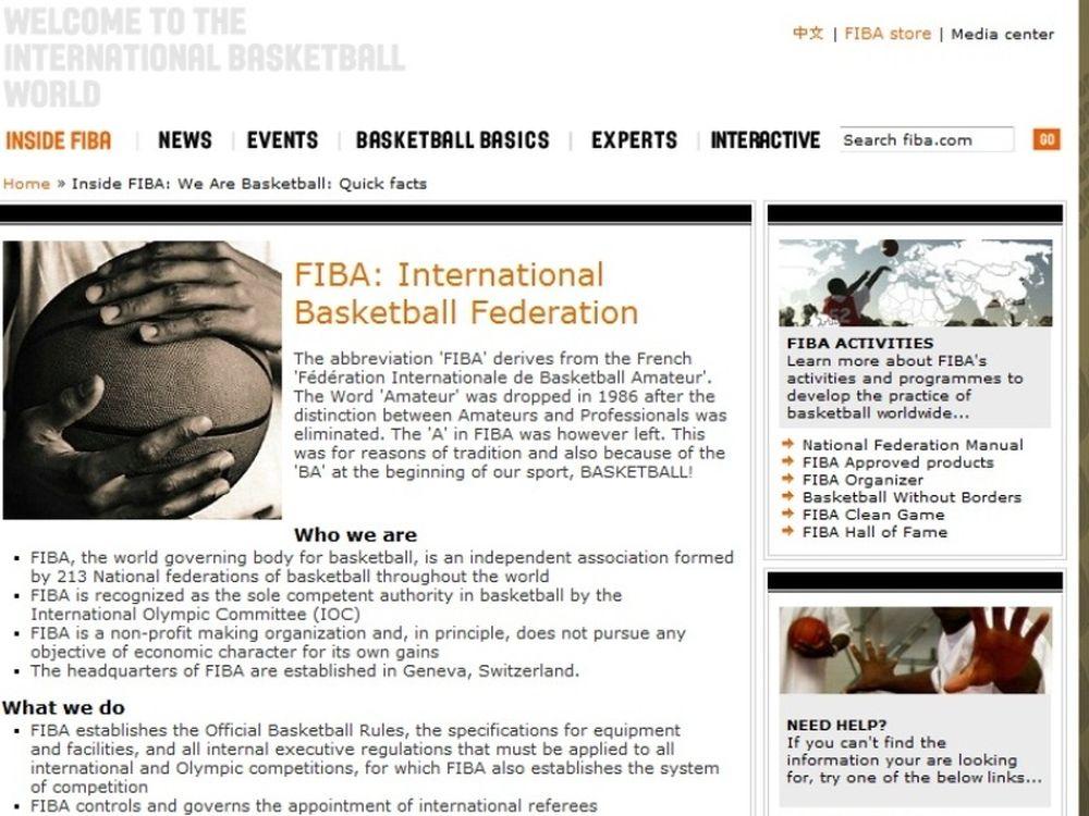 Χρόνια πολλά, FIBA!