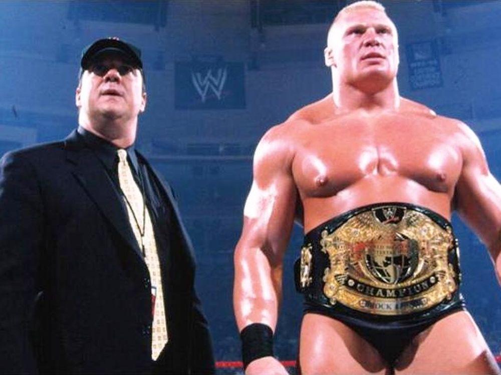 Συνεργασία Brock, Heyman με WWE