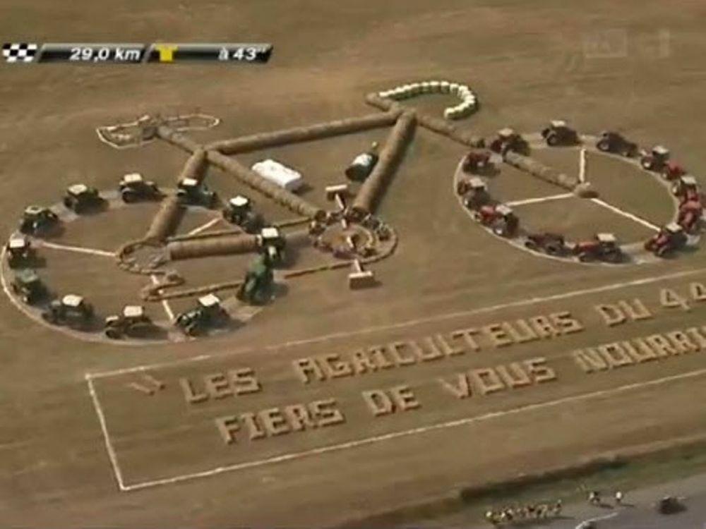 Ο Γύρος Γαλλίας σε αγρογλυφικά!