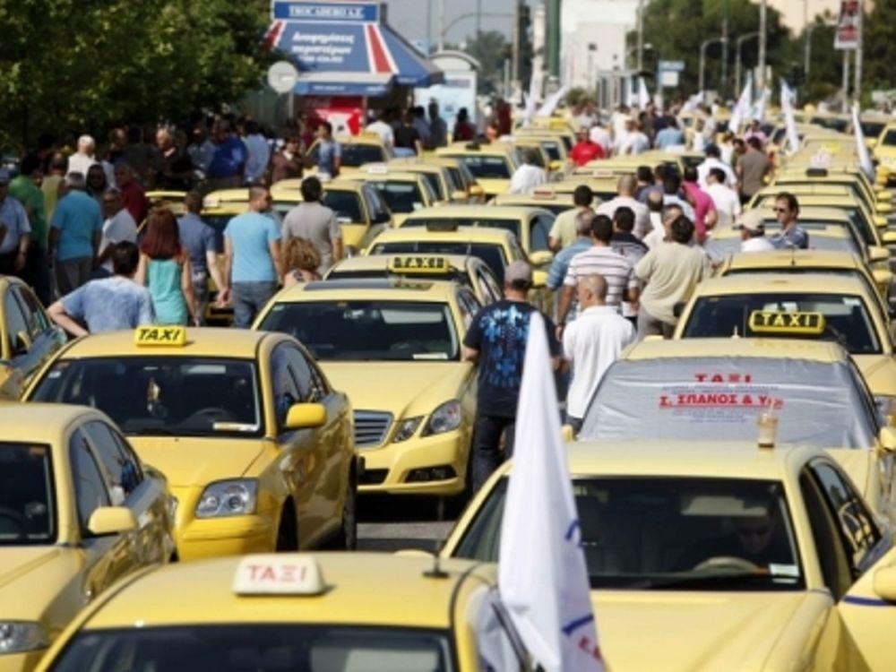 Συγκέντρωση Ταξί στη Μεσογείων