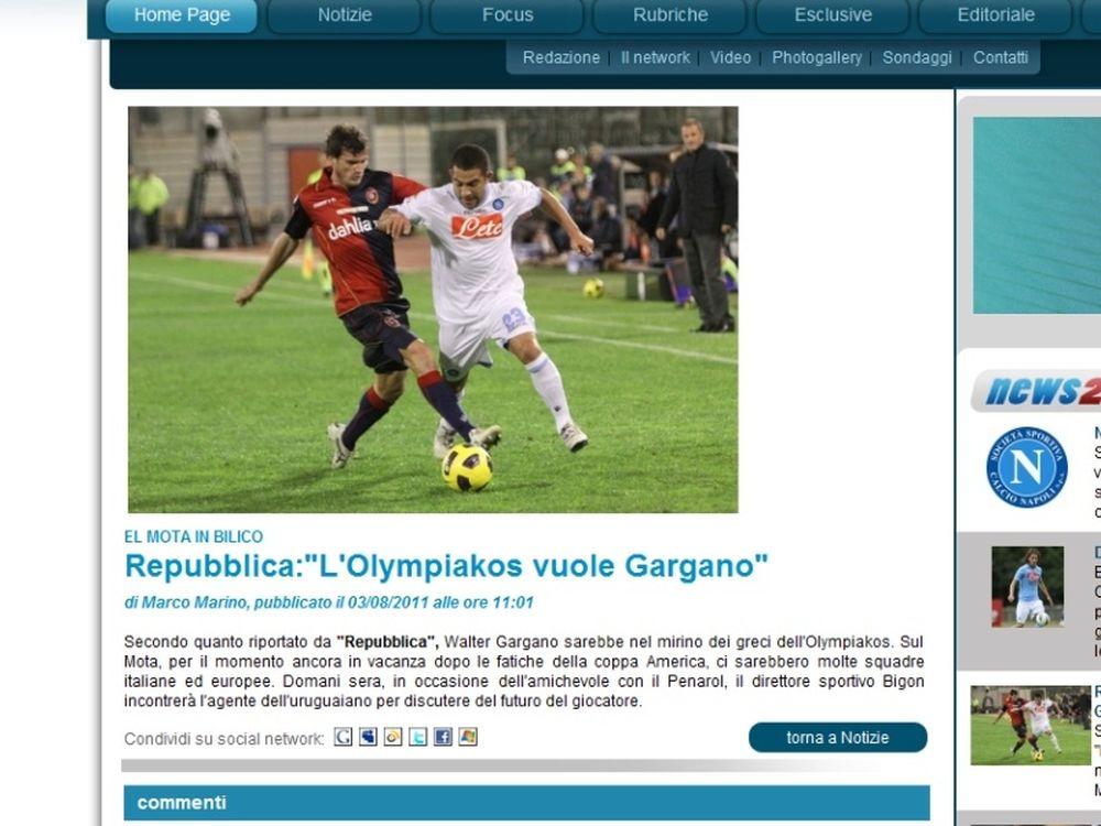 «Θέλει Γκαργκάνο ο Ολυμπιακός»