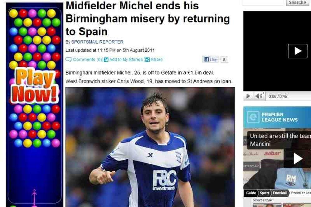 «Επιστροφή στην Ισπανία για Μίτσελ»
