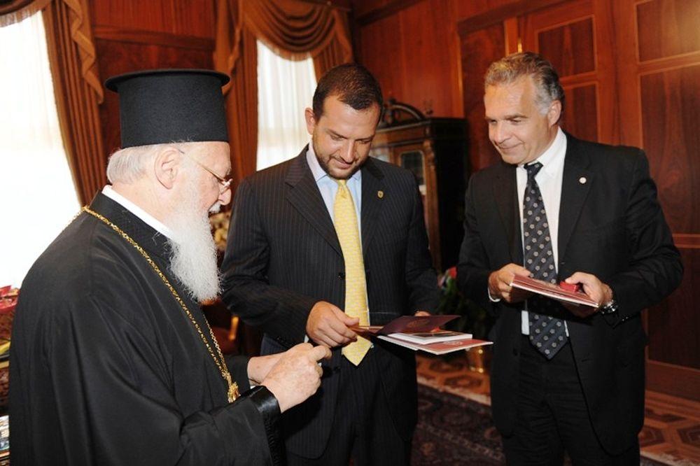 Συνάντηση με τον Βαρθολομαίο στην ΑΕΚ (photos)