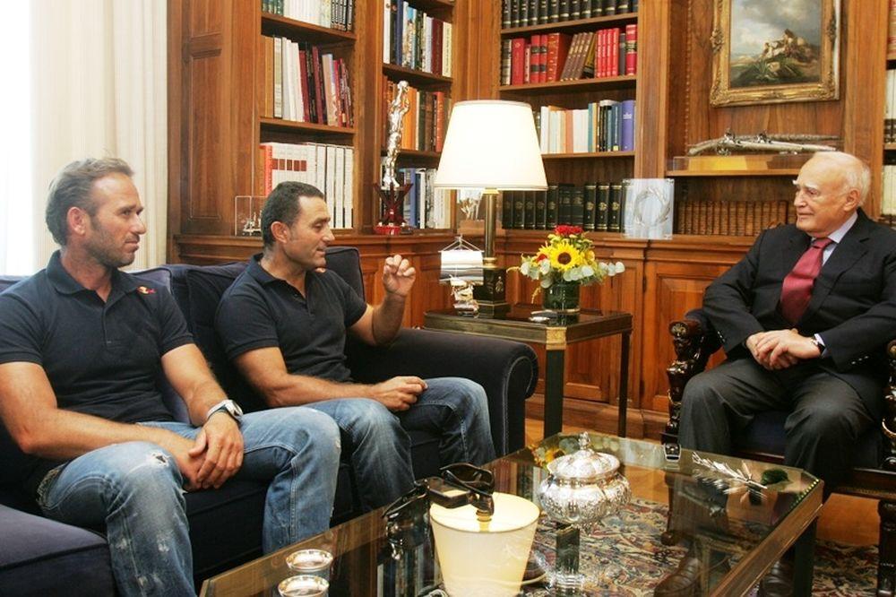 Οι Παγκόσμιοι πρωταθλητές ιστιοπλοΐας,στον Πρόεδρο της Δημοκρατίας
