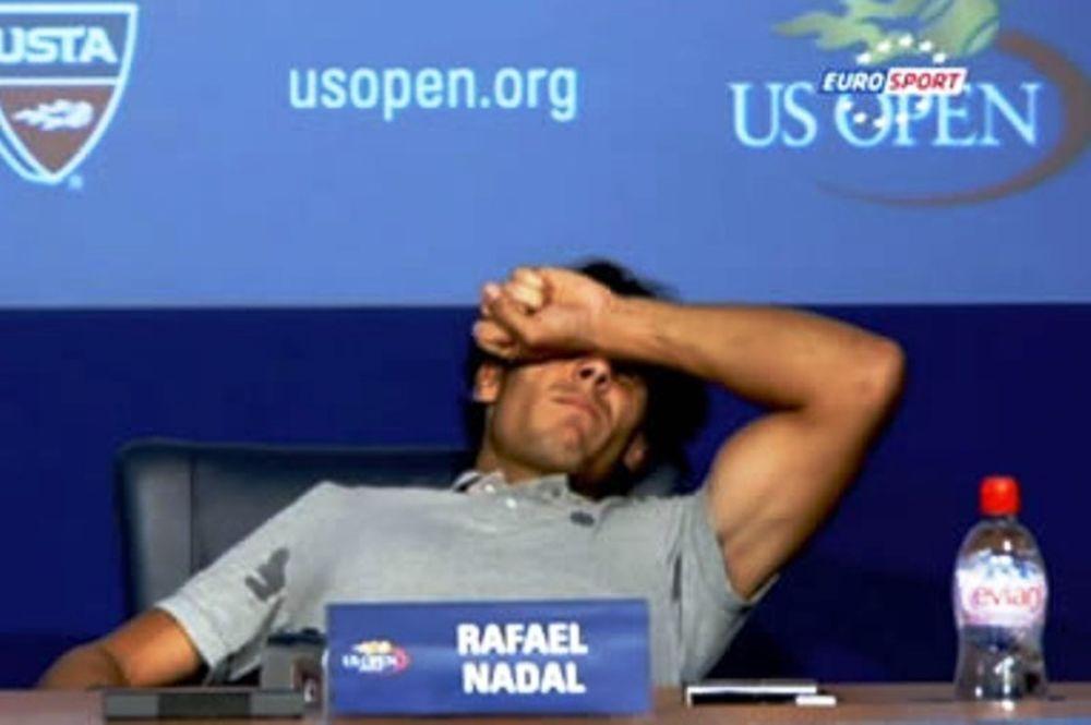 Πώς ο Ναδάλ… εξαφανίστηκε από τη συνέντευξη Τύπου!