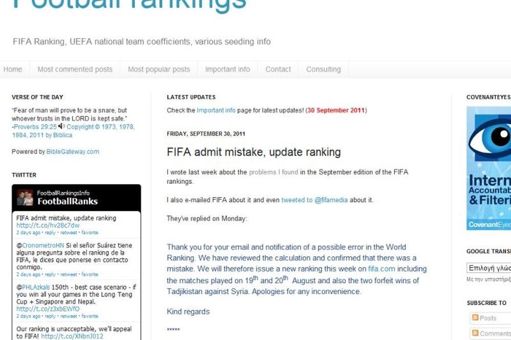 Super… γκάφα της FIFA!