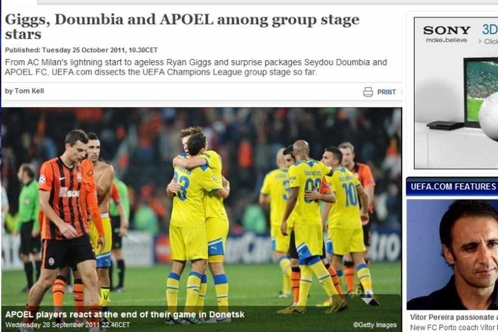 Αποθέωση UEFA για ΑΠΟΕΛ