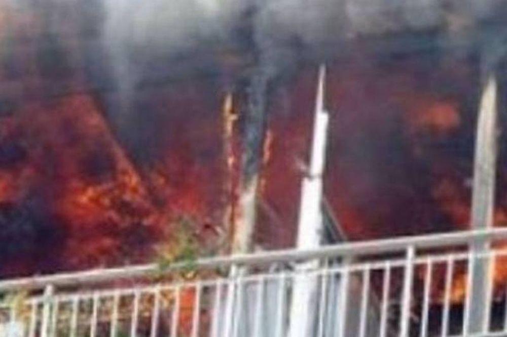 Στις φλόγες διαμέρισμα στου Παπάγου