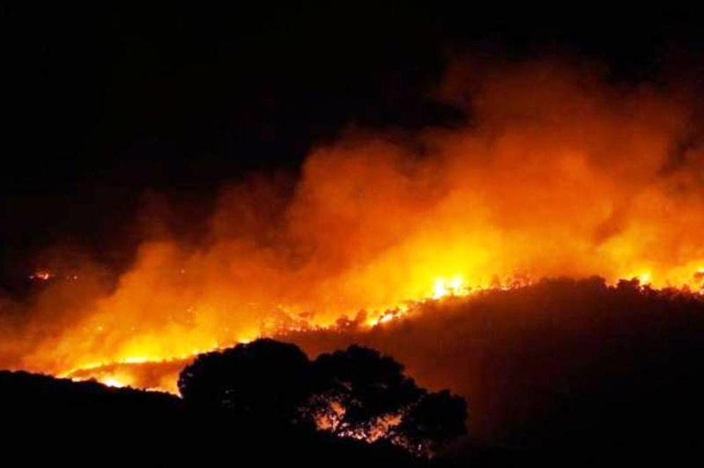 Φωτιά σε δύσβατη περιοχή στη Σητεία