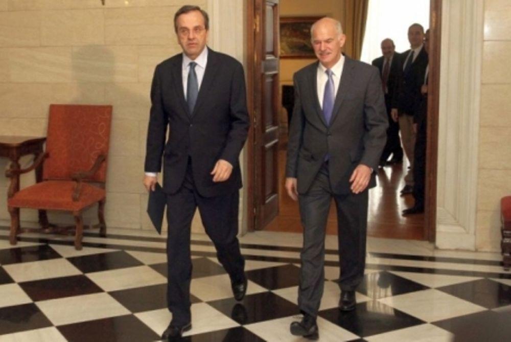 «Με θετικές προσεγγίσεις για το νέο πρωθυπουργό οι συνομιλίες Παπανδρέου-Σαμαρά»