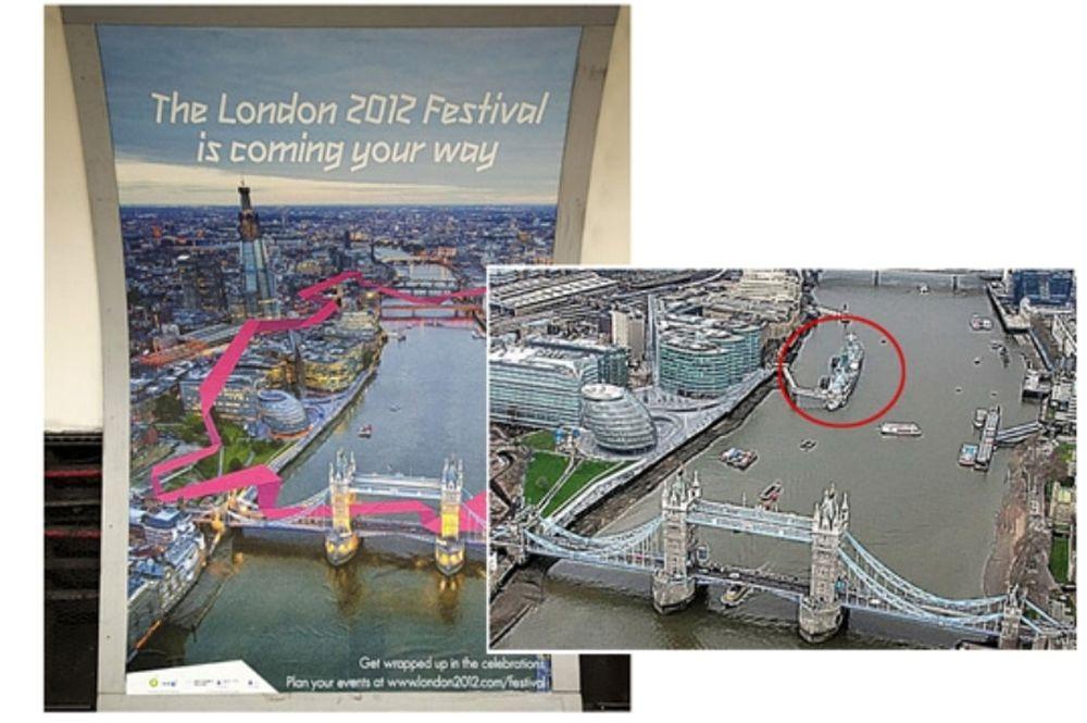 Προσβολή του Λονδίνου 2012 στο HMS Belfast