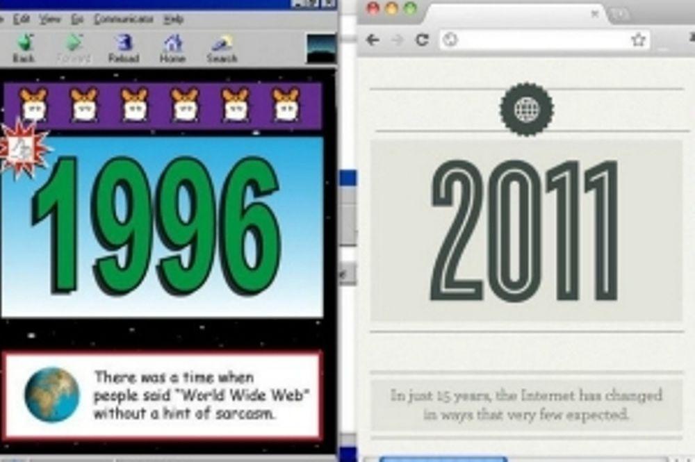 Το internet το 1996… και σήμερα! (infographic)