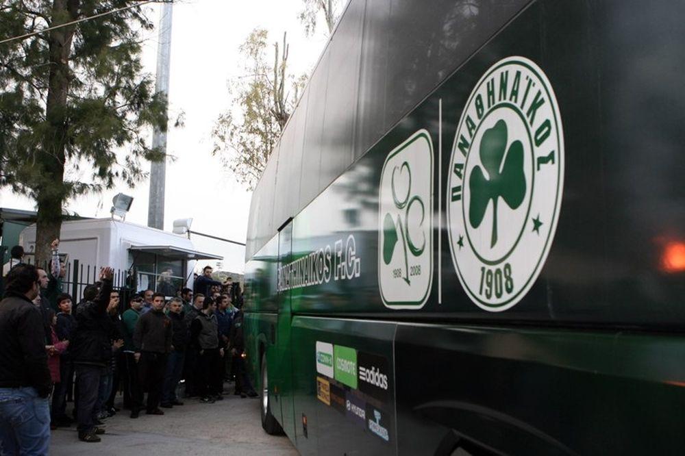 Συνοδεία οπαδών η «πράσινη» αποστολή