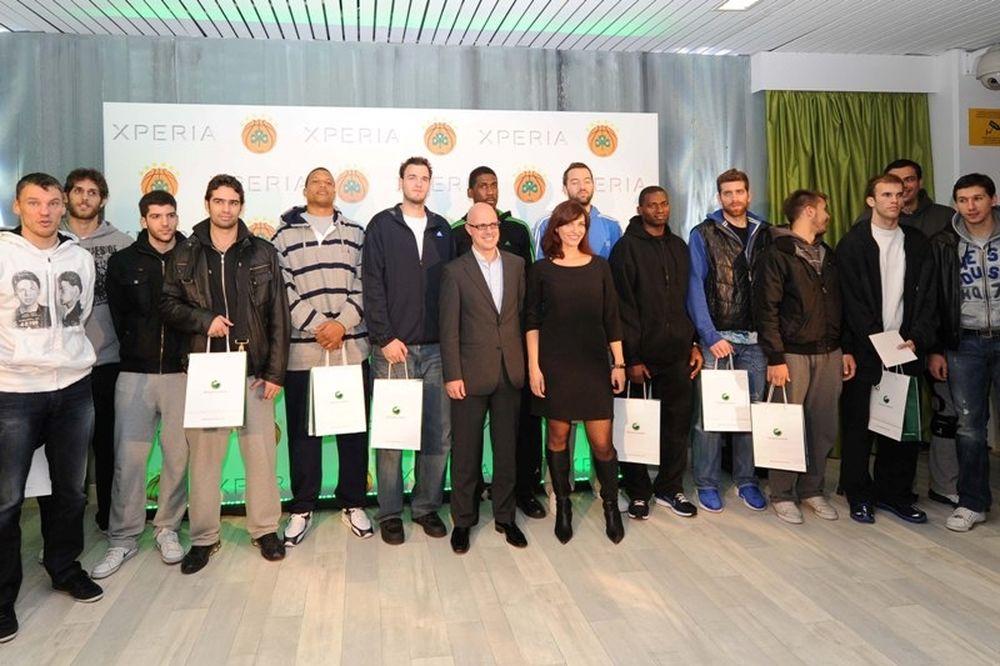 Παναθηναϊκός-Sony Ericsson… συνεργασία πρωταθλητών (photos+videos)