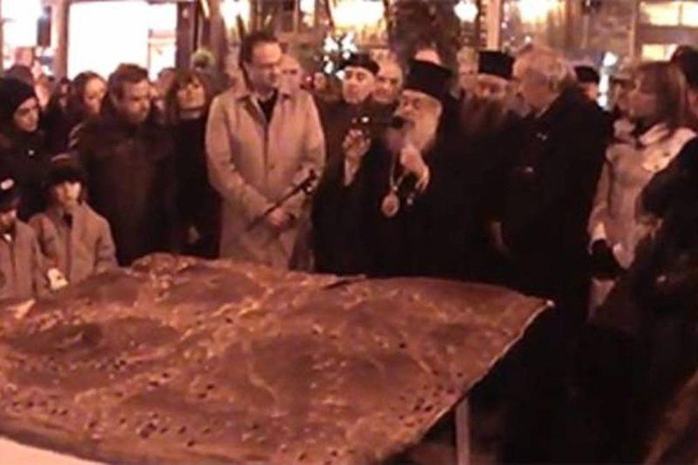 Χριστόψωμο που ζυγίζει 200 κιλά!