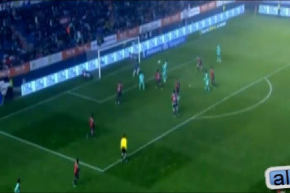 Παραλίγο γκολ-καραμπόλα! (video)