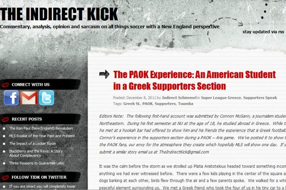 «The PAOK experience»