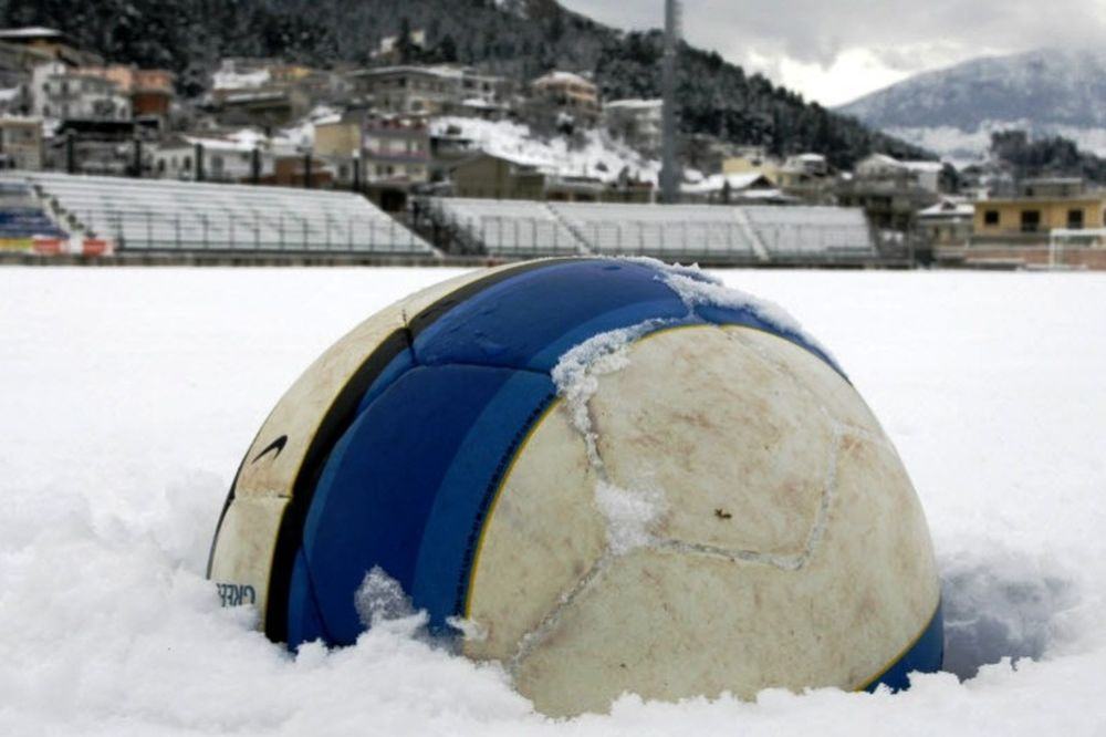 Αγωνιστική σε χιονισμένο φόντο