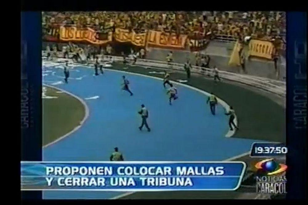 Ξύλο και στην Κολομβία! (video)