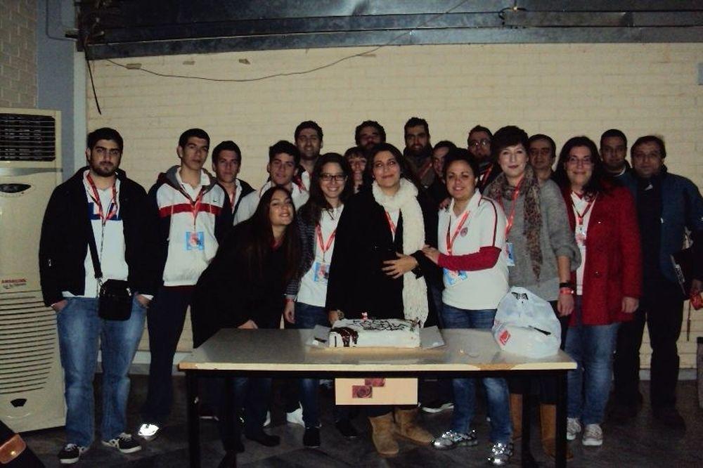 Έκοψαν πίτα οι εθελοντές του Ολυμπιακού