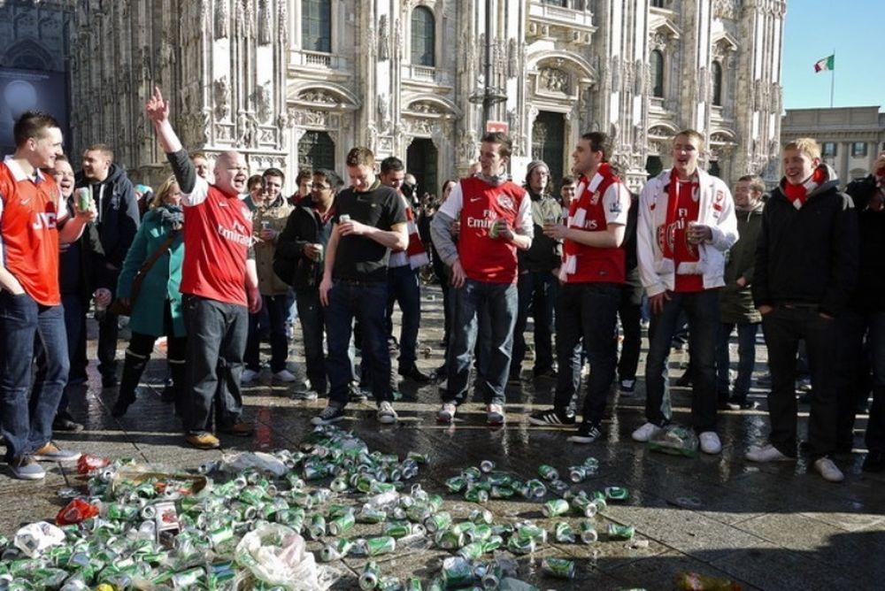 Συμπλοκές με οπαδούς της Άρσεναλ στο Μιλάνο