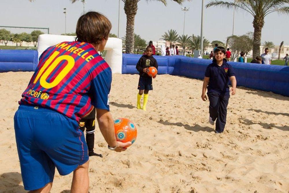 Δίδαξε beach soccer στο Κατάρ ο Αμαρέγιε