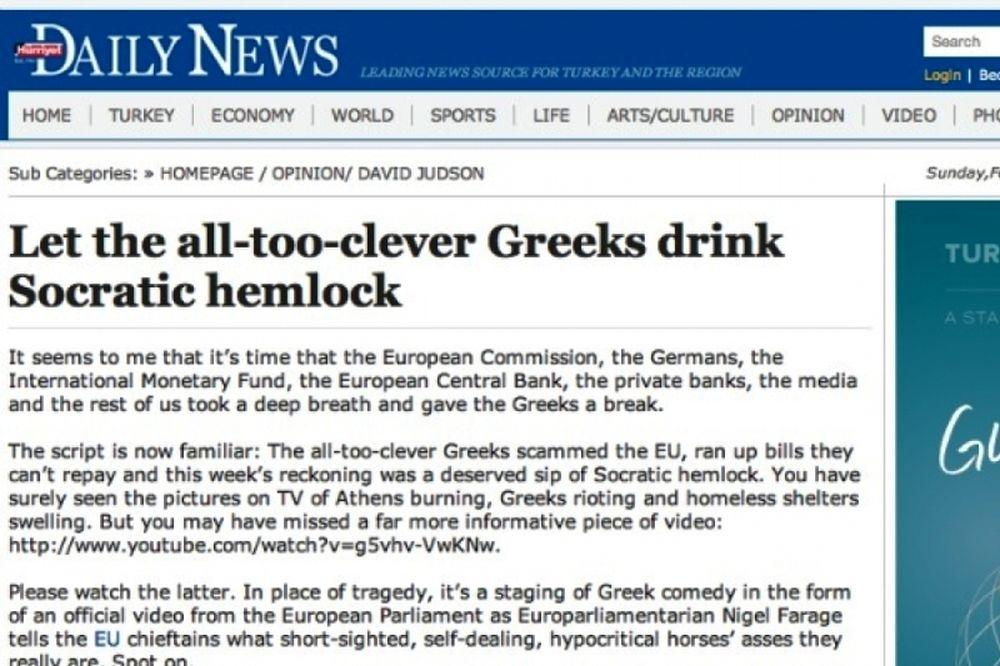 Ειρωνική η «Hurriyet» για την Ελλάδα