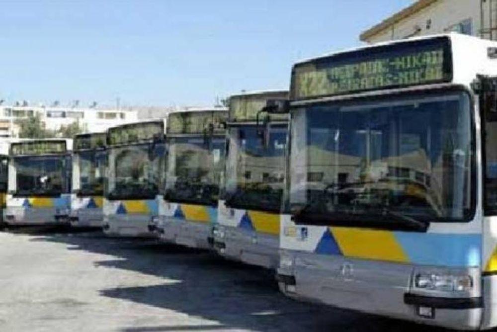 Στάση εργασίας στα λεωφορεία