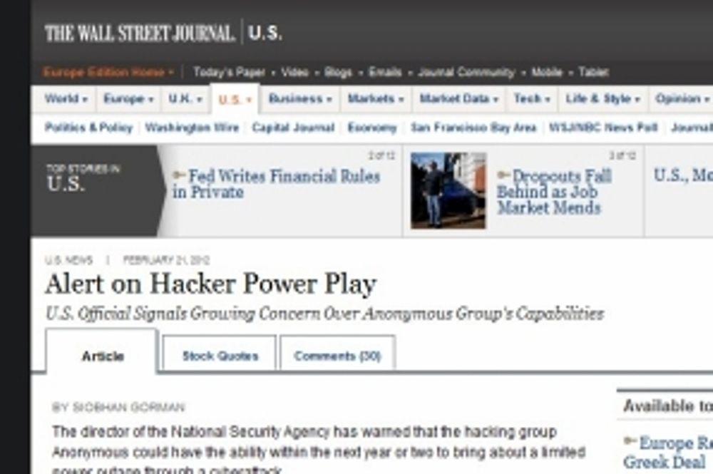 Φοβούνται διαδυκτιακό black-out από τους Anonymous!
