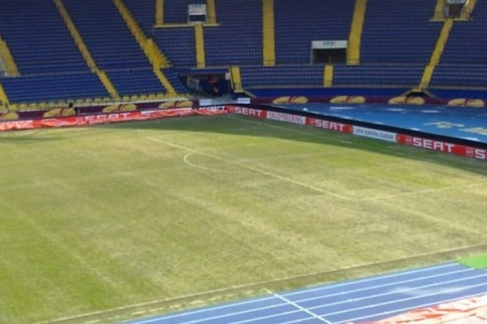 Σε κακή κατάσταση ο αγωνιστικός χώρος στο «Μetalist Stadium»