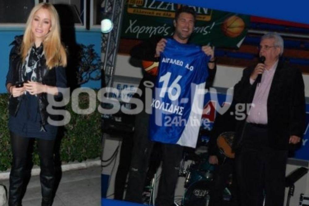 Ο Χολίδης και η… αγάπη του για την ομάδα του Αιγάλεω (photos)