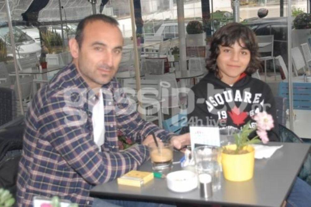 Για καφέ με τον γιο του ο Λεωνίδης