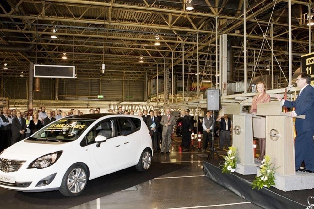Με ένα Meriva συμπληρώθηκαν τα 11.000.000 «ισπανικά» Opel