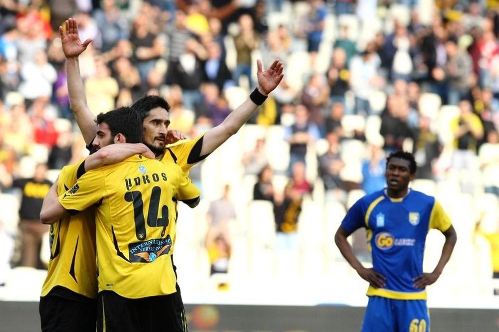 Νίκη με… μουρμούρα για ΑΕΚ, 1-0 τον Παναιτωλικό (photos+videos)